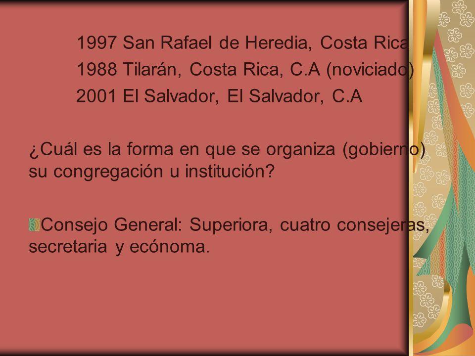 1997 San Rafael de Heredia, Costa Rica