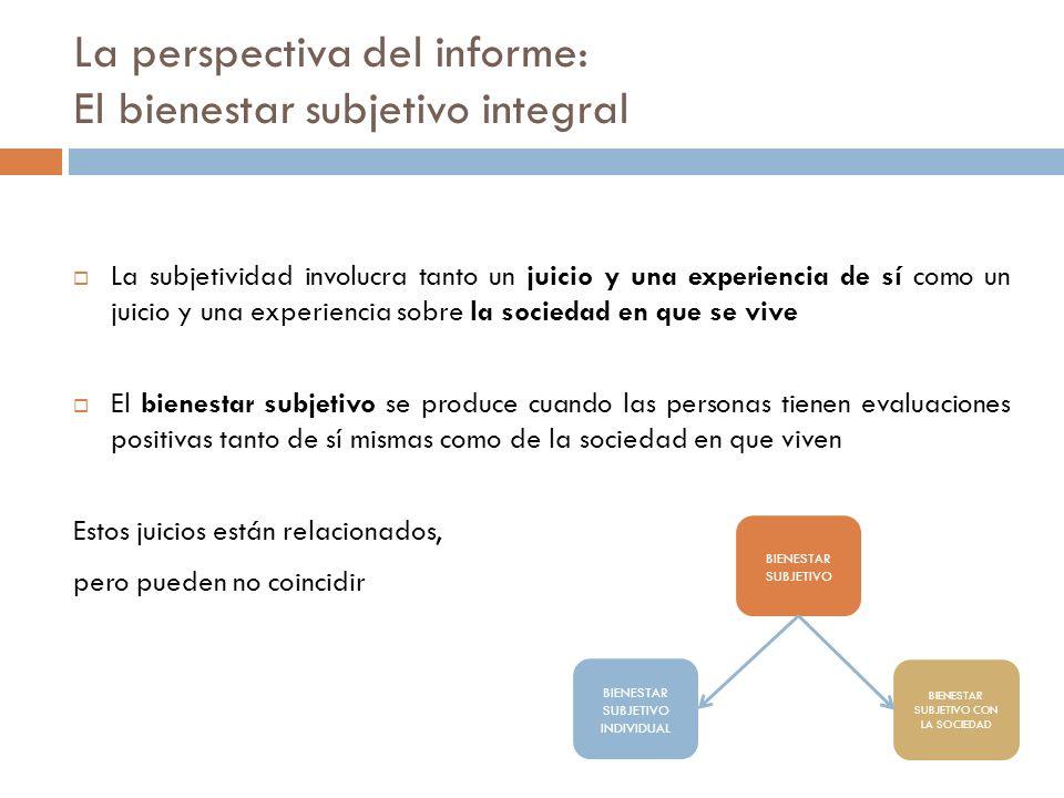 La perspectiva del informe: El bienestar subjetivo integral