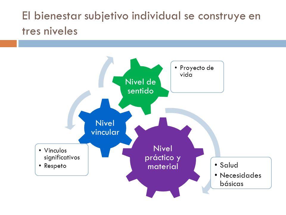 El bienestar subjetivo individual se construye en tres niveles