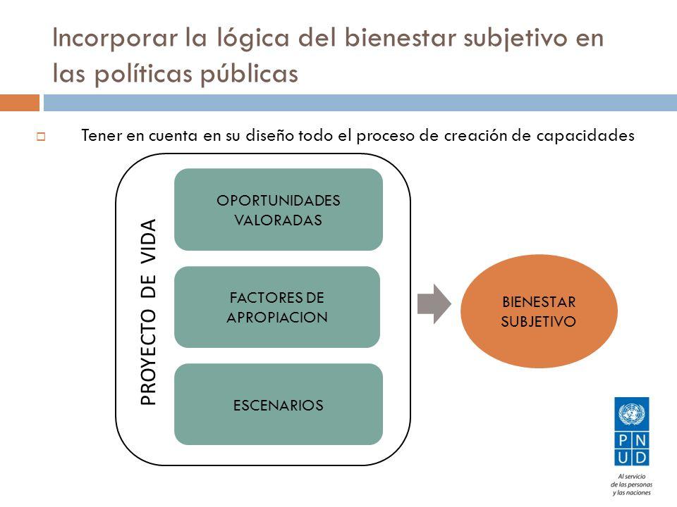 Incorporar la lógica del bienestar subjetivo en las políticas públicas