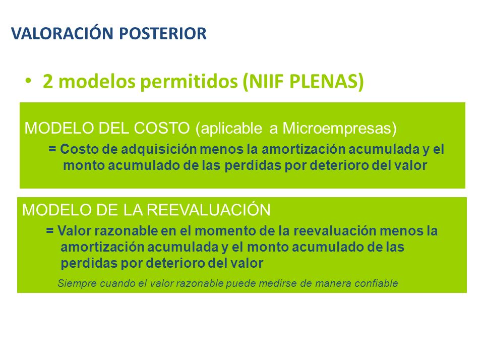 2 modelos permitidos (NIIF PLENAS)