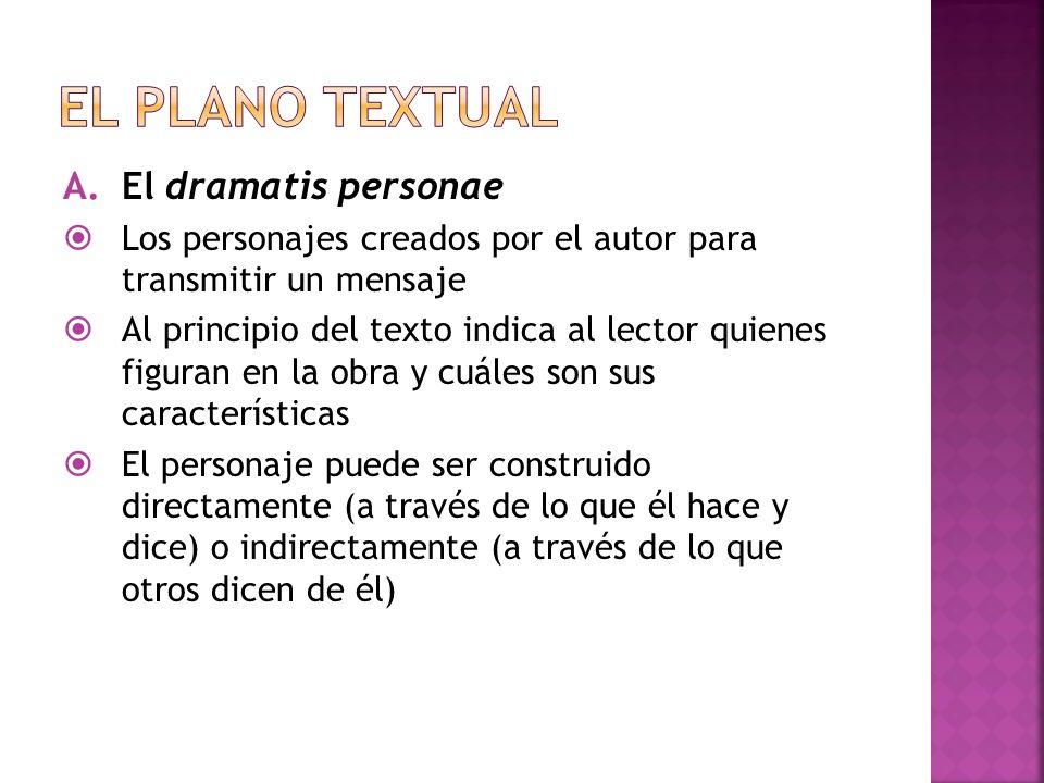 El plano textual El dramatis personae