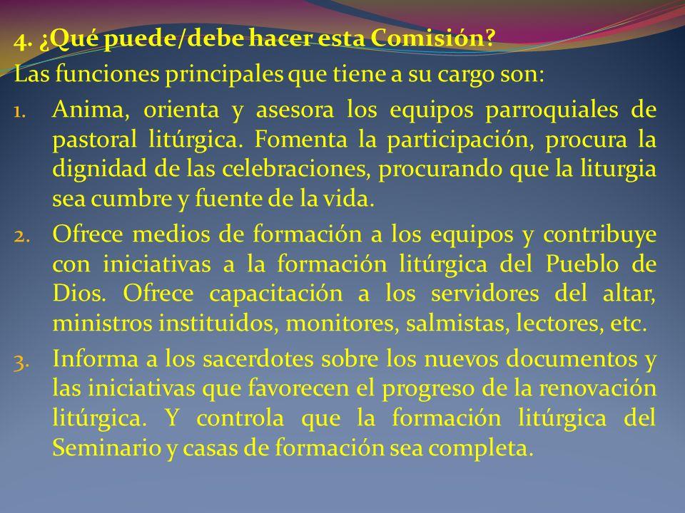 4. ¿Qué puede/debe hacer esta Comisión