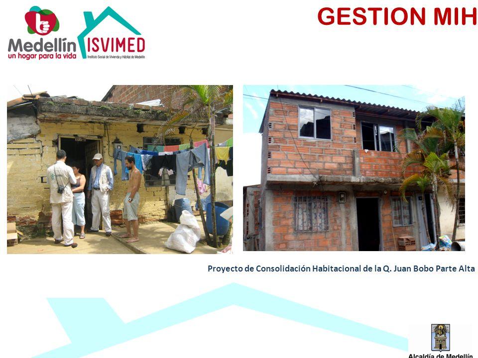 GESTION MIH Proyecto de Consolidación Habitacional de la Q. Juan Bobo Parte Alta