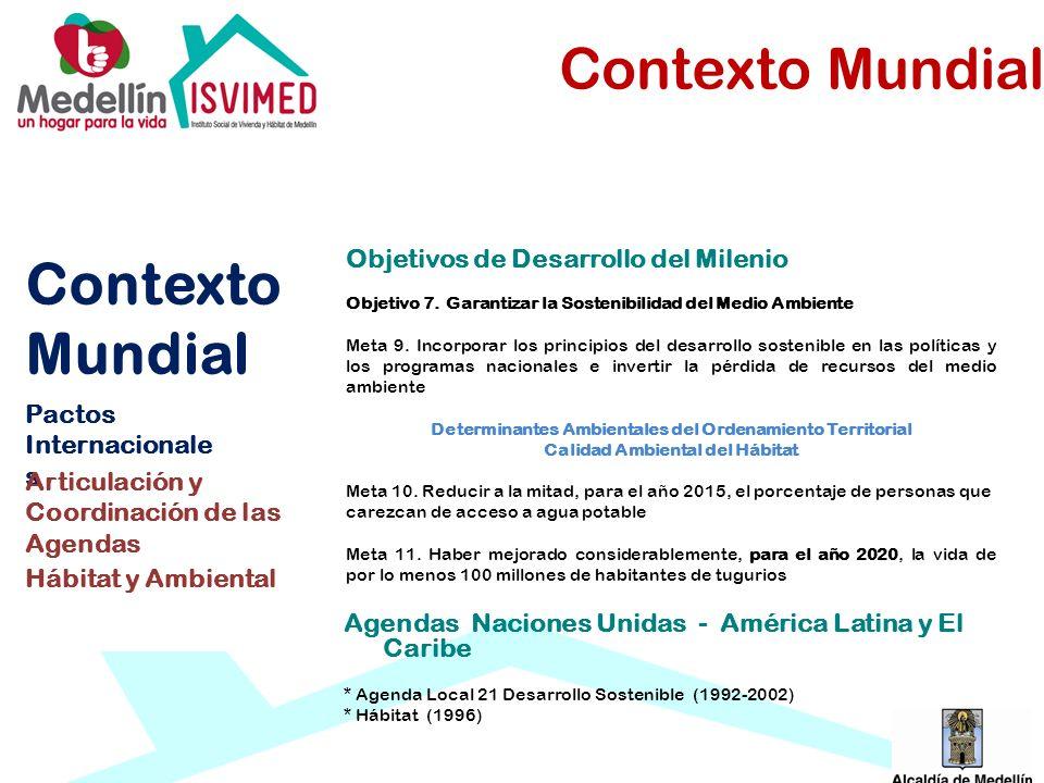 Contexto Mundial Contexto Mundial Objetivos de Desarrollo del Milenio