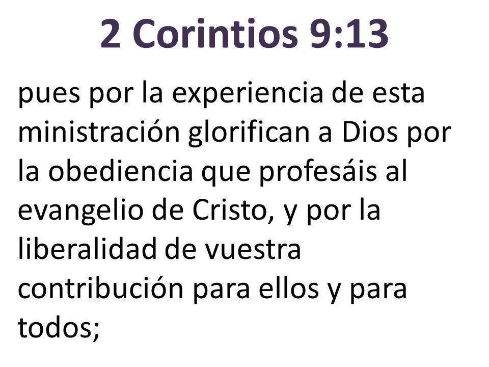 2 Corintios 9:13