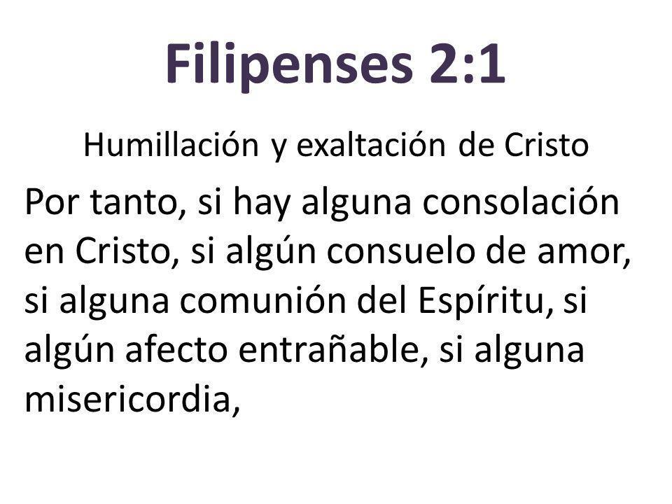 Humillación y exaltación de Cristo