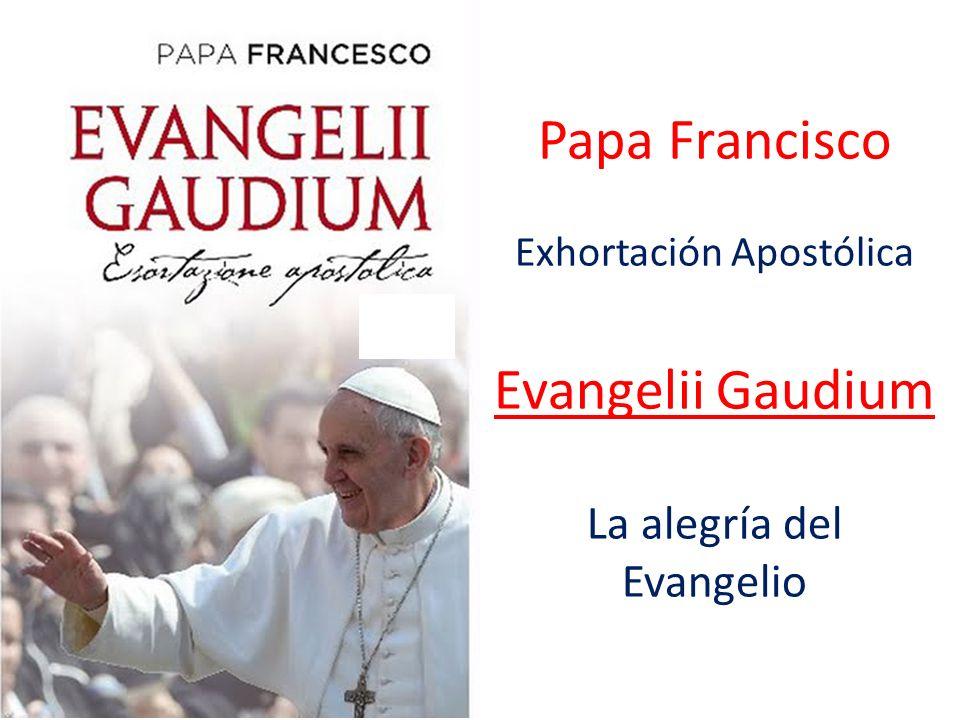 Papa Francisco Evangelii Gaudium La alegría del Evangelio