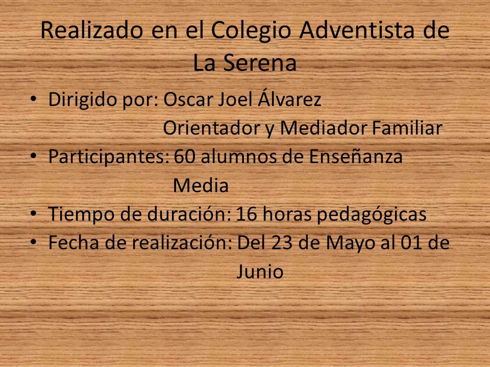 Realizado en el Colegio Adventista de La Serena
