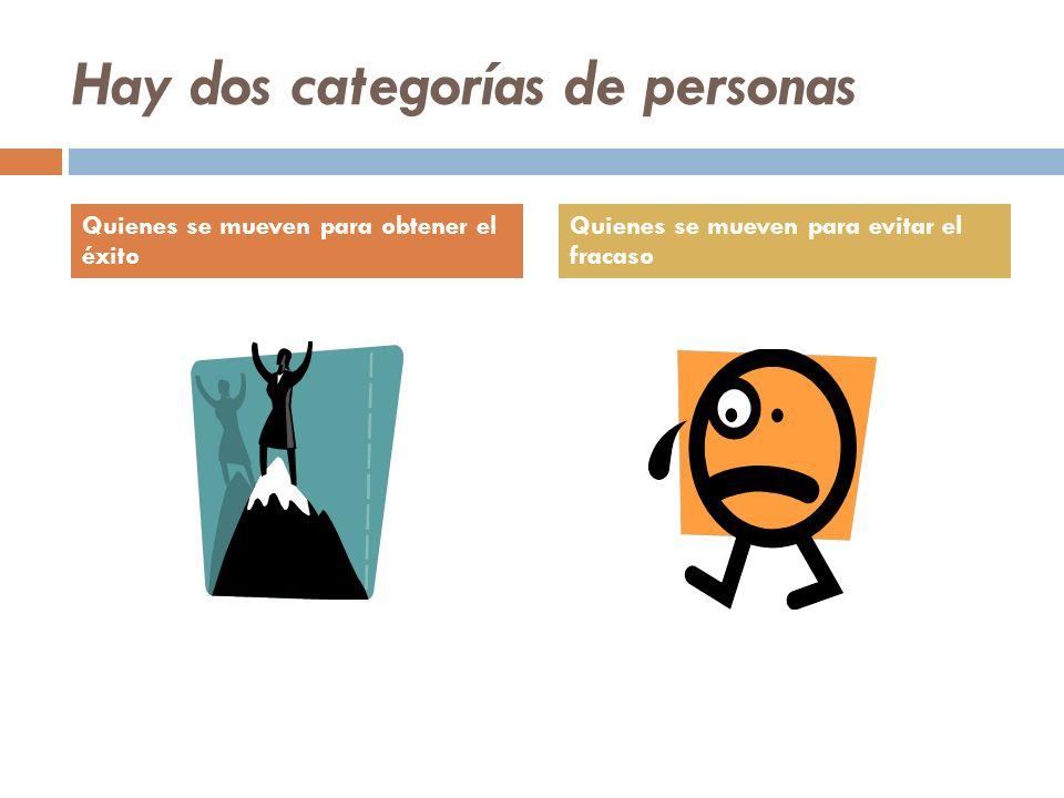 Hay dos categorías de personas