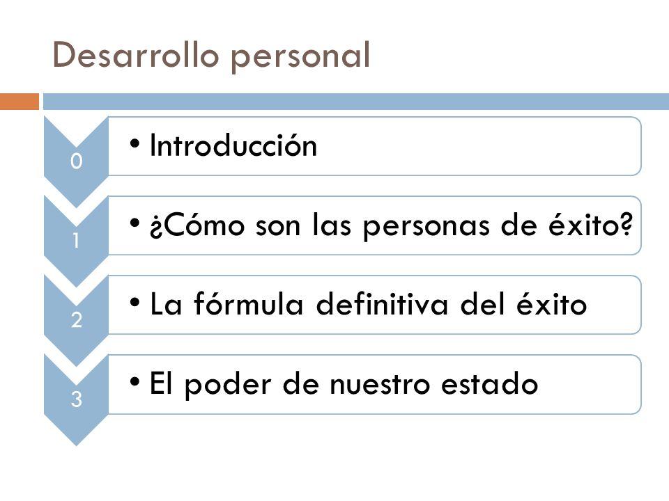 Desarrollo personal Introducción 1 ¿Cómo son las personas de éxito 2