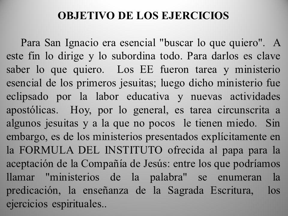 OBJETIVO DE LOS EJERCICIOS