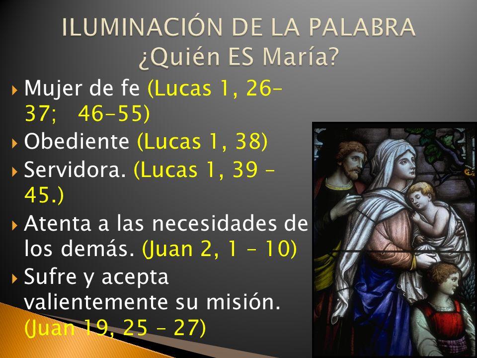 ILUMINACIÓN DE LA PALABRA ¿Quién ES María