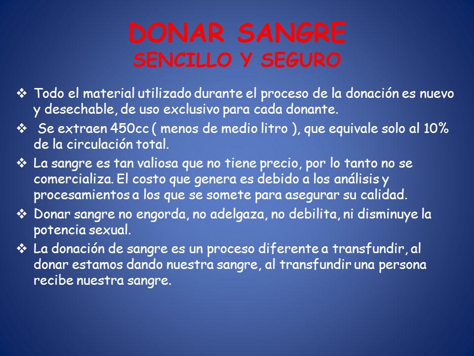 DONAR SANGRE SENCILLO Y SEGURO
