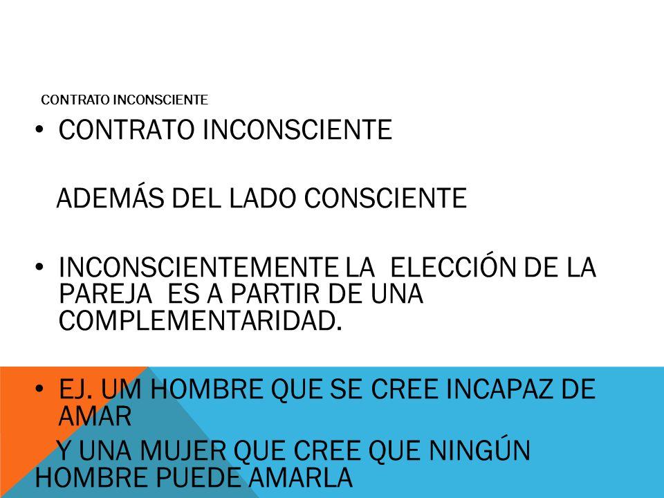 CONTRATO INCONSCIENTE ADEMÁS DEL LADO CONSCIENTE