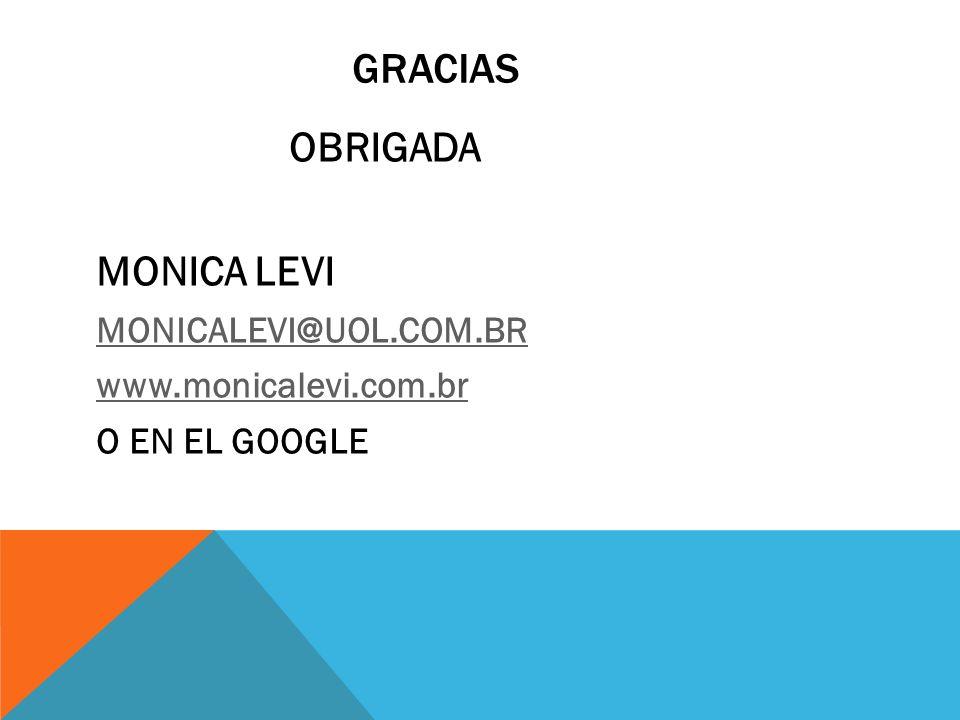gRACIAS MONICA LEVI MONICALEVI@UOL.COM.BR www.monicalevi.com.br
