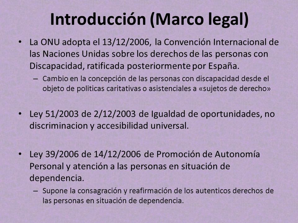 Introducción (Marco legal)