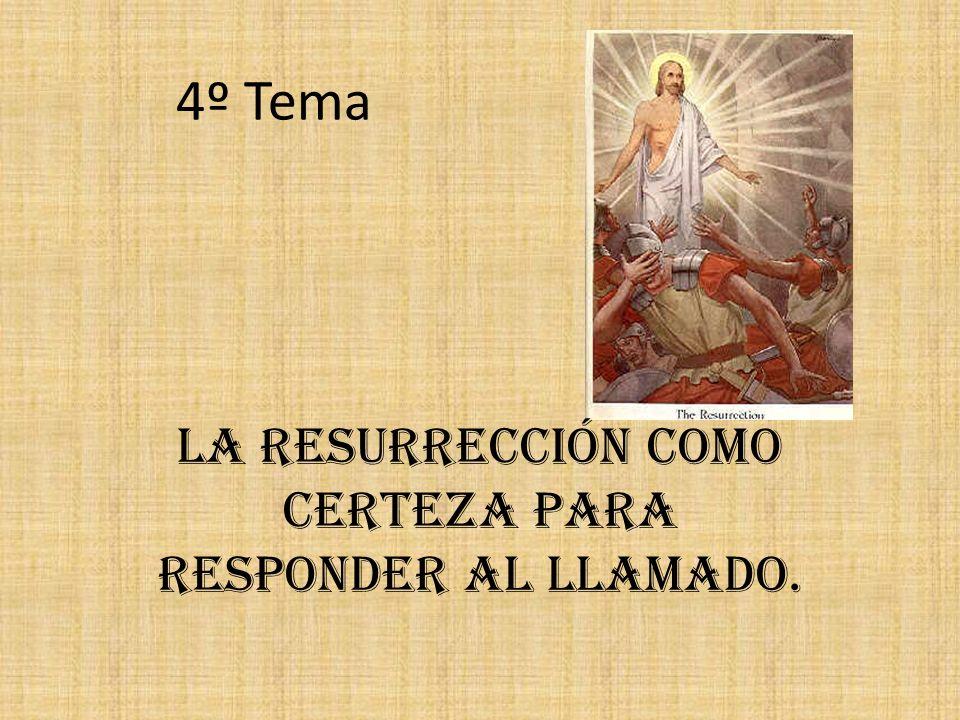 La Resurrección como certeza para responder al llamado.