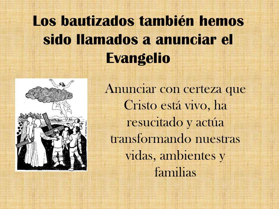 Los bautizados también hemos sido llamados a anunciar el Evangelio