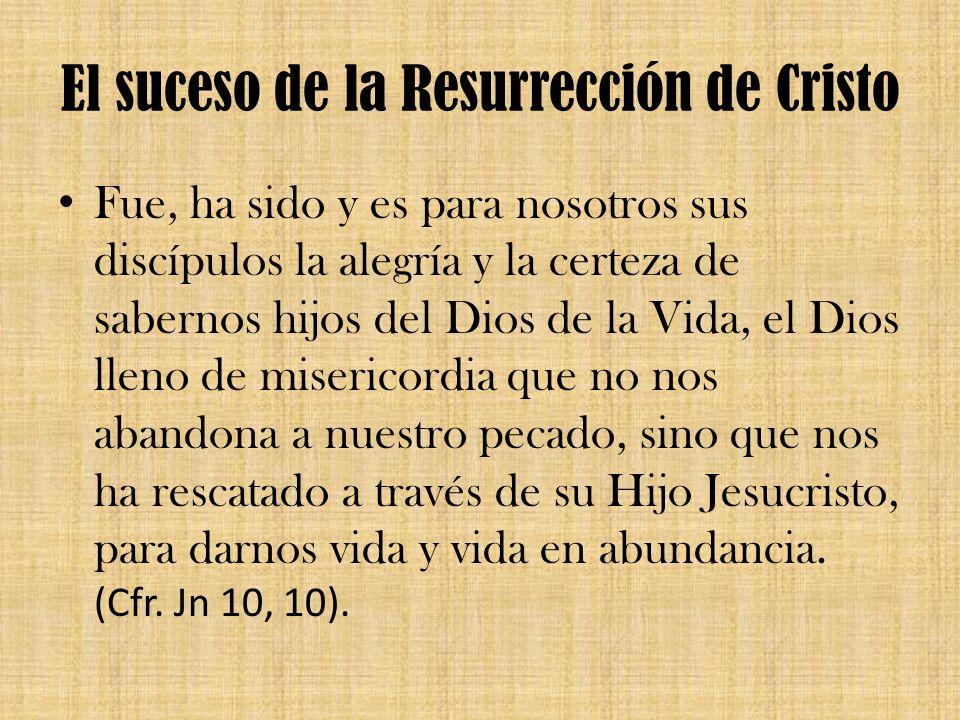 El suceso de la Resurrección de Cristo