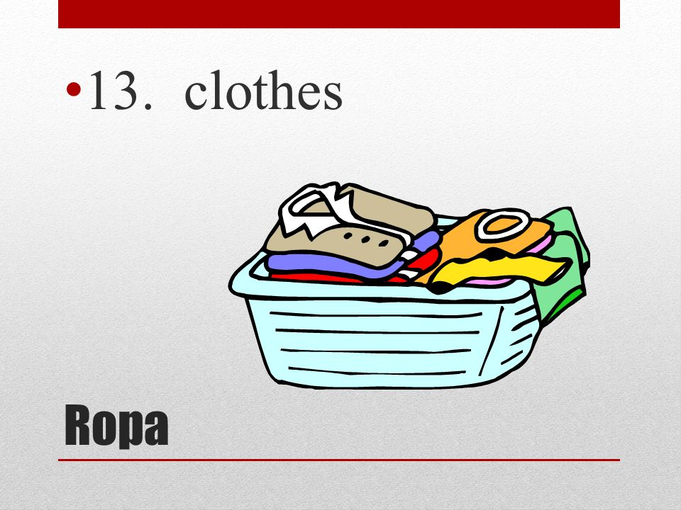 13. clothes Ropa