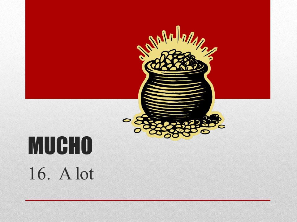 Mucho 16. A lot