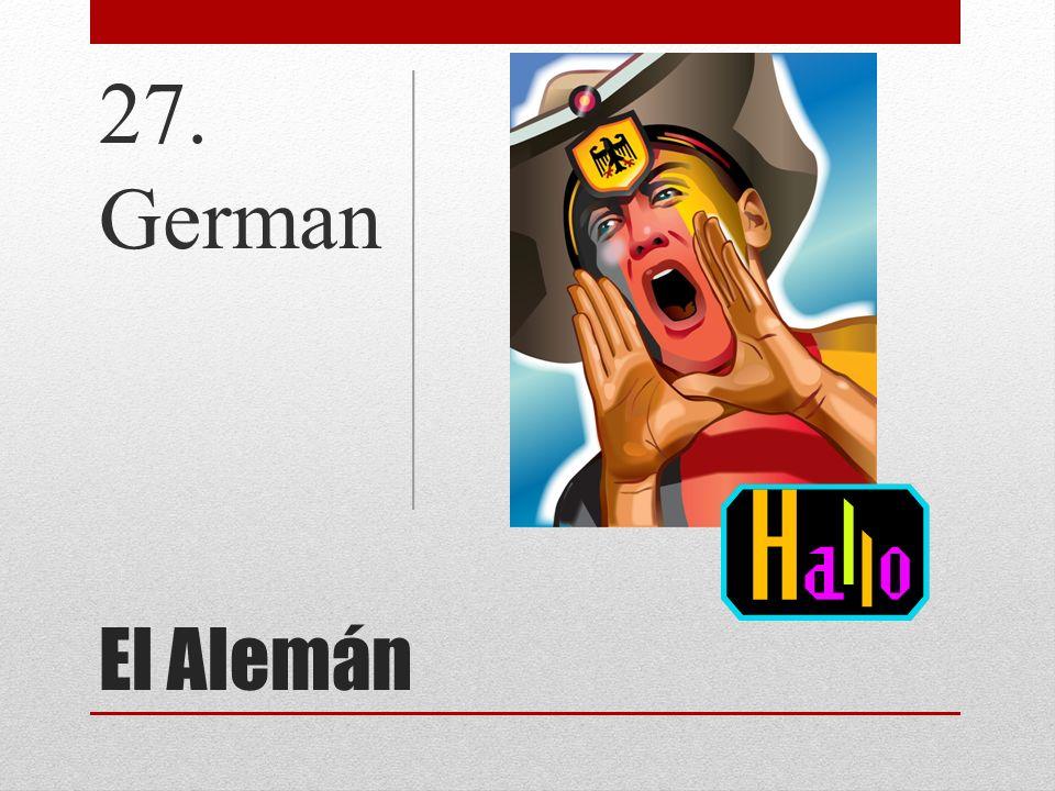 27. German El Alemán