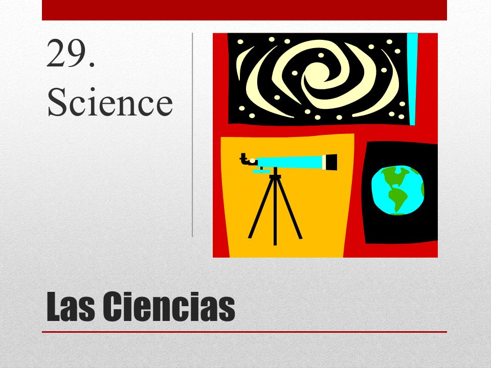 29. Science Las Ciencias