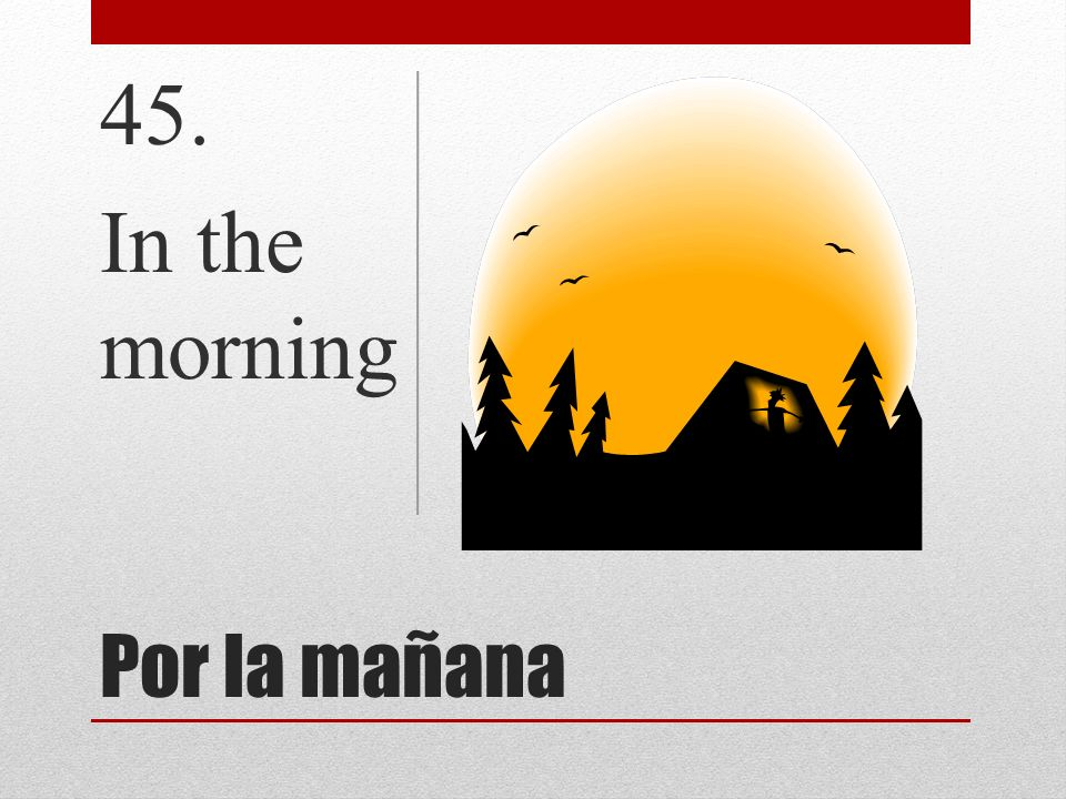 45. In the morning Por la mañana