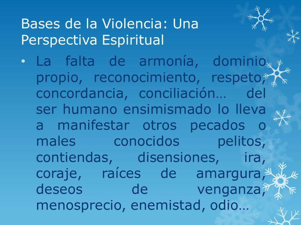 Bases de la Violencia: Una Perspectiva Espiritual