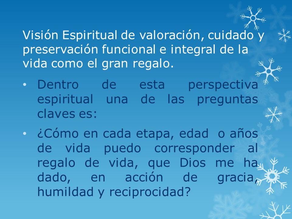 Dentro de esta perspectiva espiritual una de las preguntas claves es: