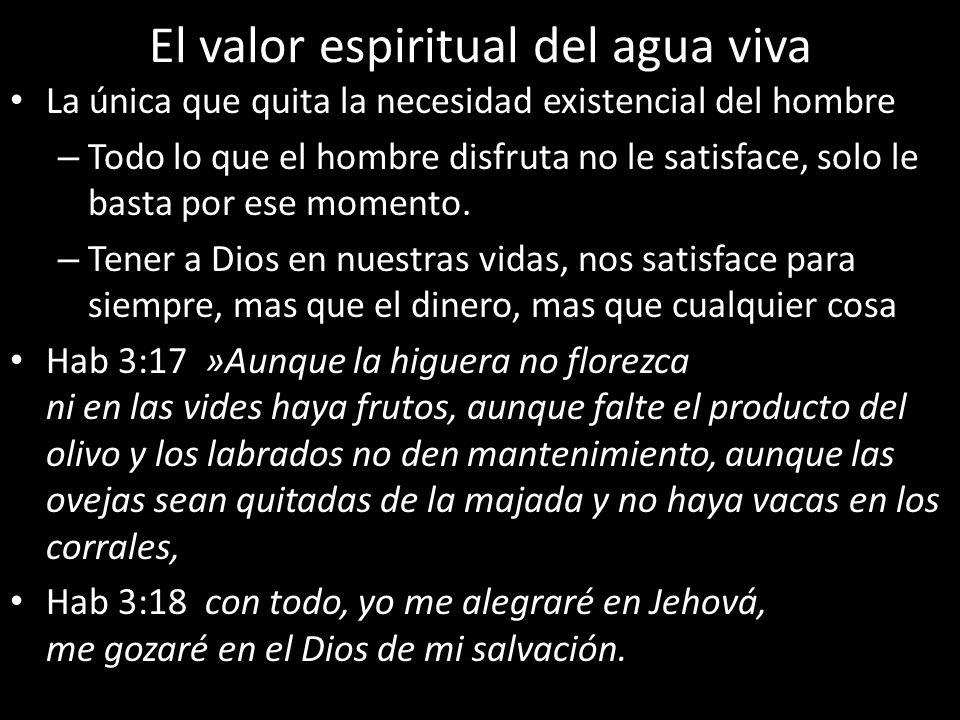 El valor espiritual del agua viva