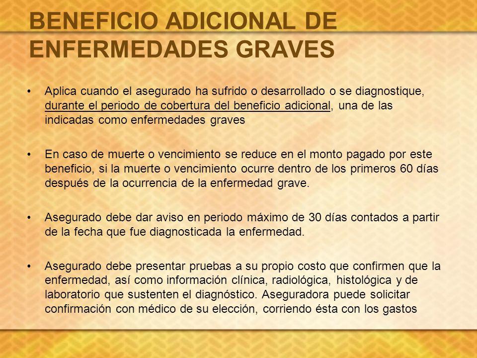 BENEFICIO ADICIONAL DE ENFERMEDADES GRAVES