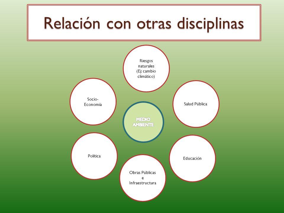 Relación con otras disciplinas