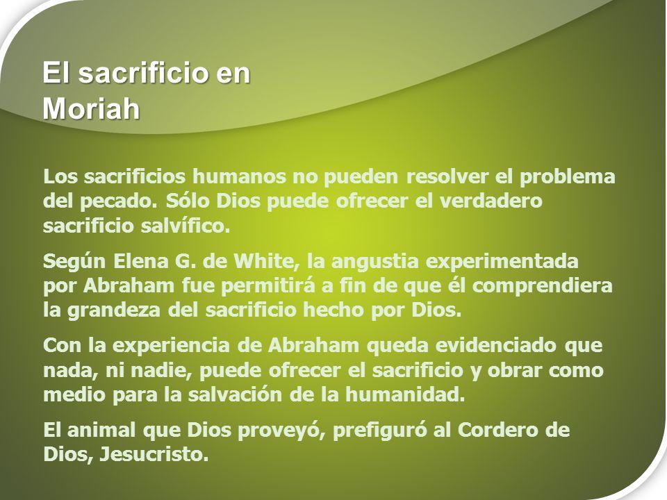 El sacrificio en Moriah