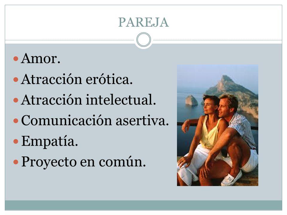 Atracción intelectual. Comunicación asertiva. Empatía.