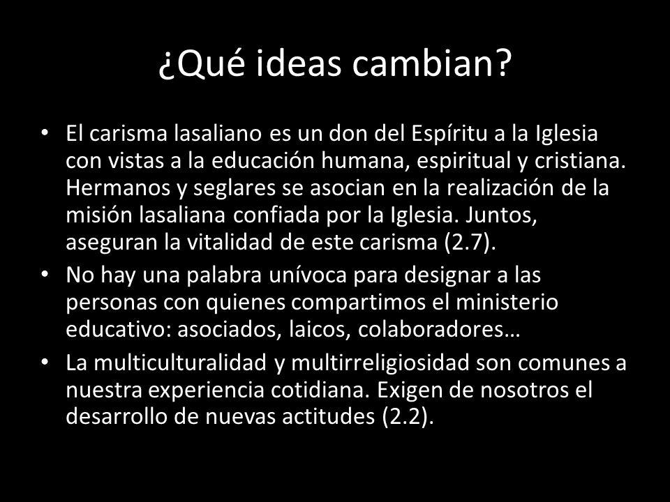 ¿Qué ideas cambian