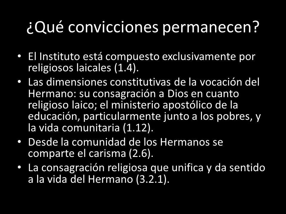 ¿Qué convicciones permanecen