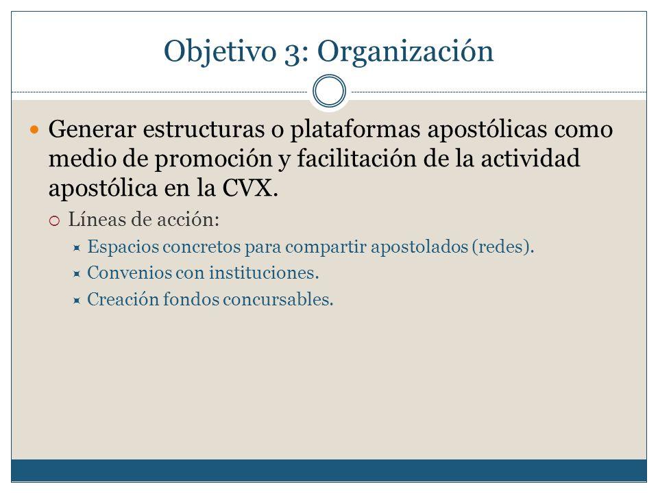 Objetivo 3: Organización