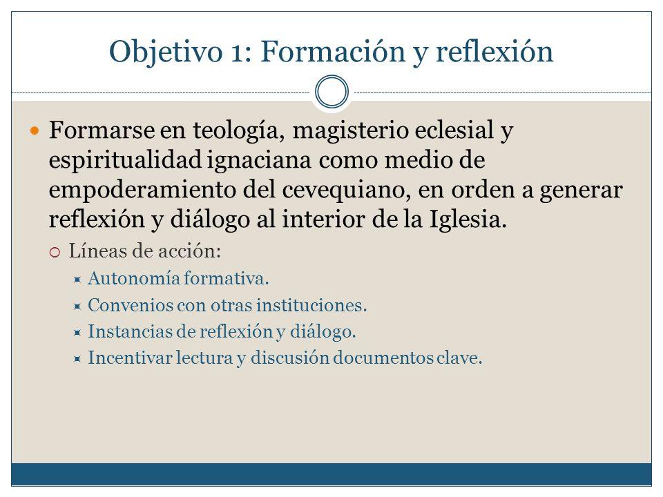 Objetivo 1: Formación y reflexión