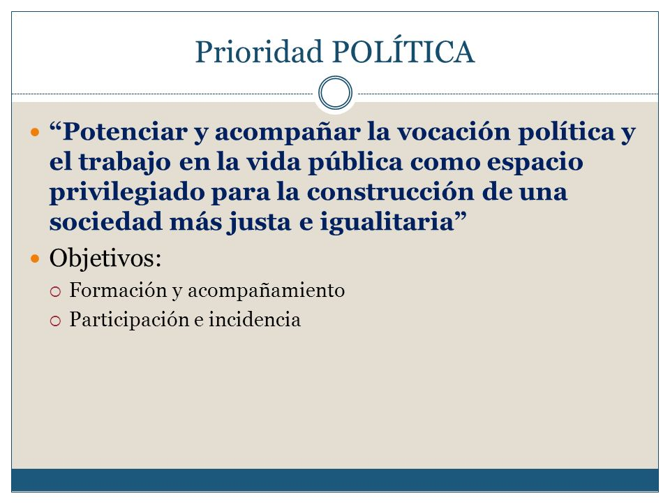 Prioridad POLÍTICA