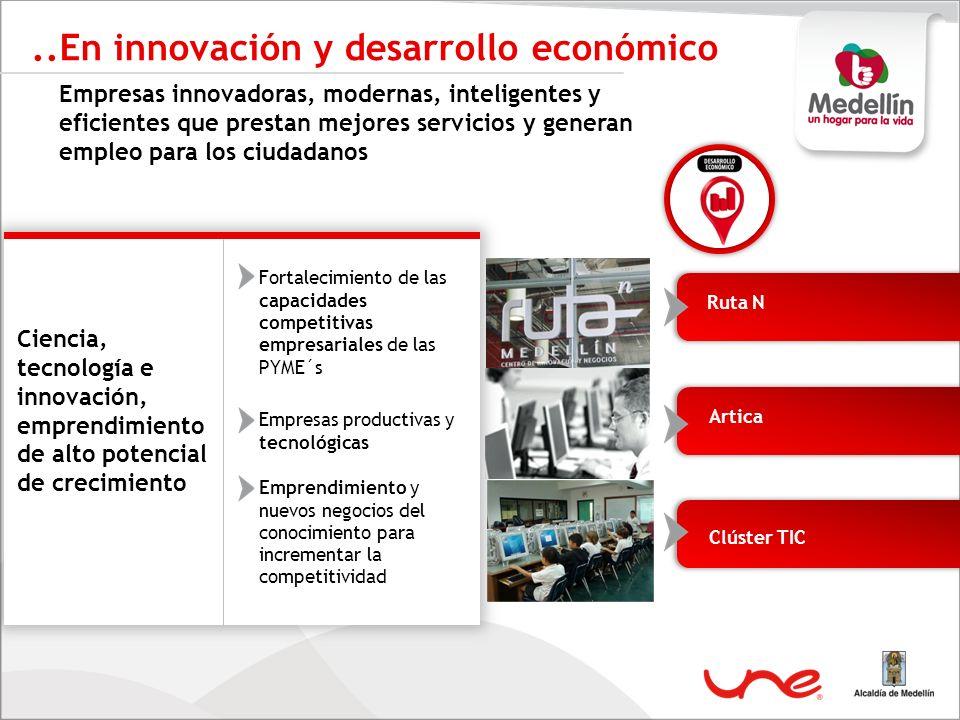..En innovación y desarrollo económico