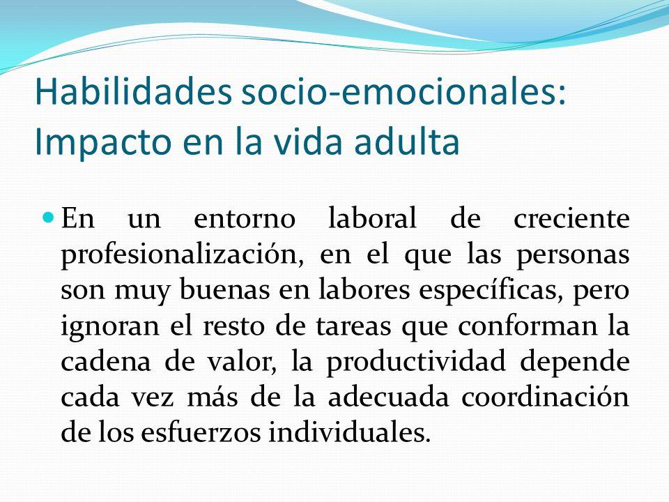 Habilidades socio-emocionales: Impacto en la vida adulta