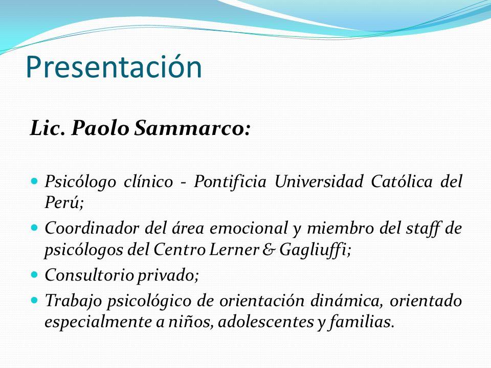 Presentación Lic. Paolo Sammarco: