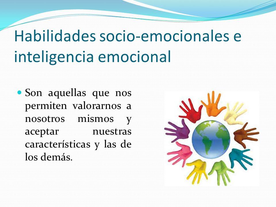 Habilidades socio-emocionales e inteligencia emocional