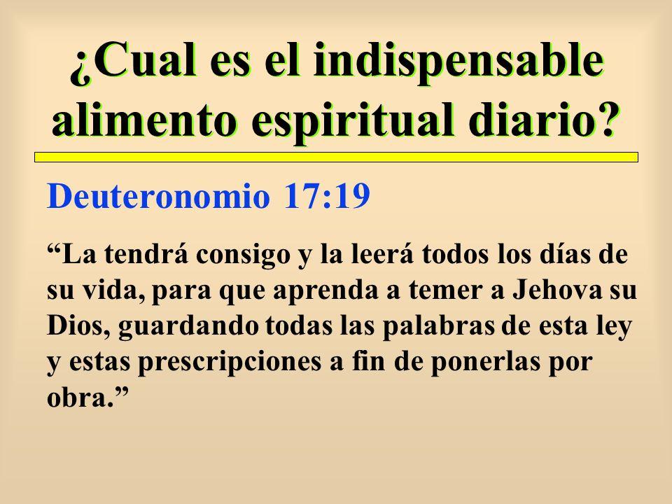 ¿Cual es el indispensable alimento espiritual diario