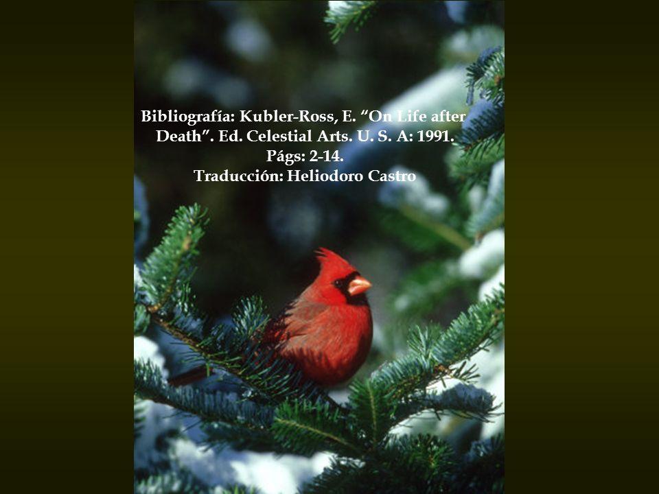 Bibliografía: Kubler-Ross, E. On Life after