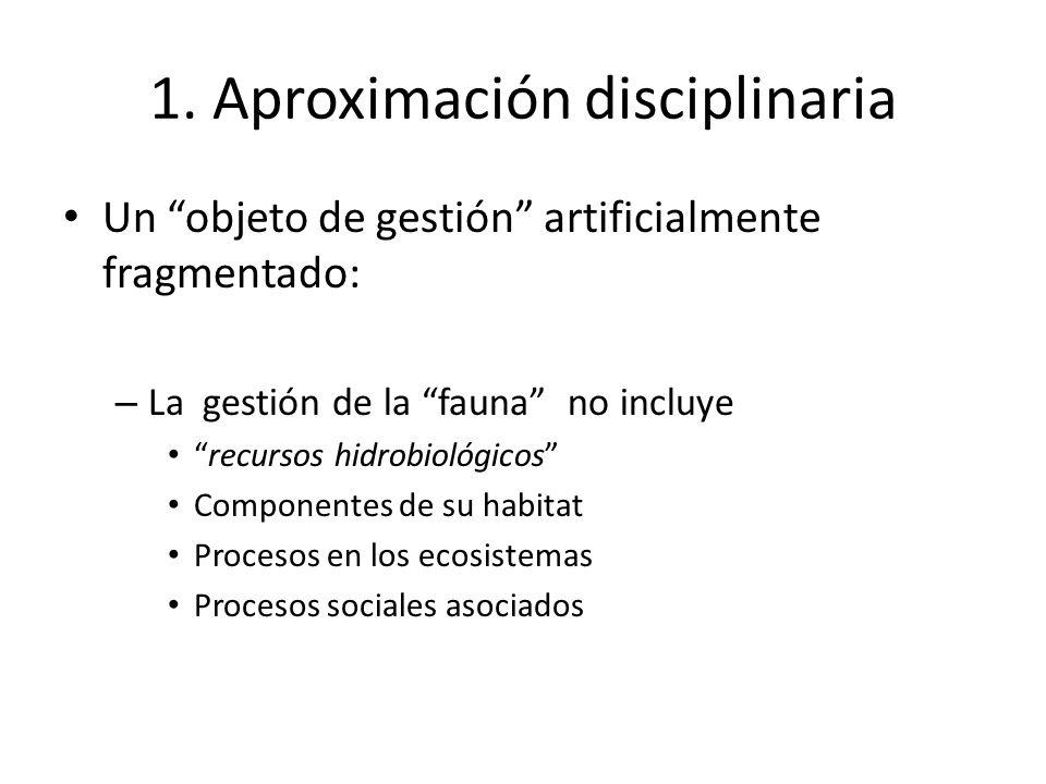 1. Aproximación disciplinaria