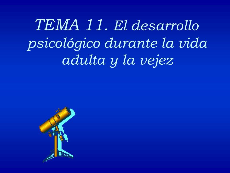 TEMA 11. El desarrollo psicológico durante la vida adulta y la vejez