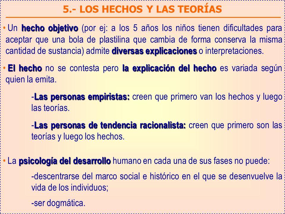 5.- LOS HECHOS Y LAS TEORÍAS